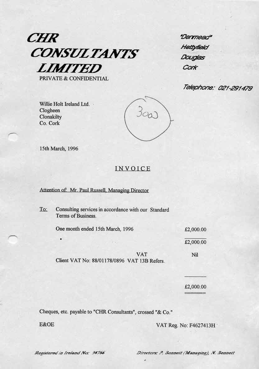 1996-03-15 Mentor's Invoice